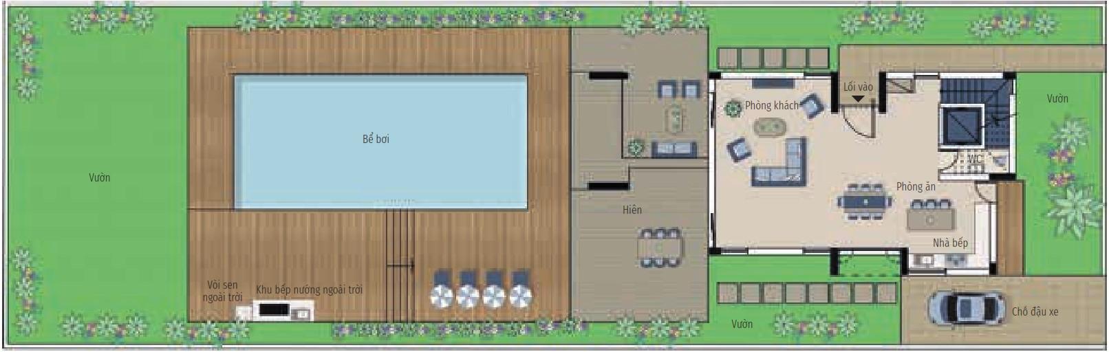 Bất động sản Citrine - Biệt thự 3 phòng ngủ